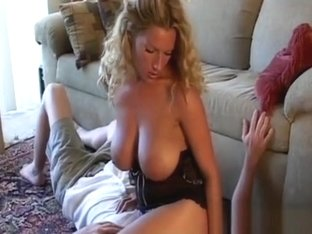 Busty Mistresse Makes Him Give Her Foot And Ass Worship