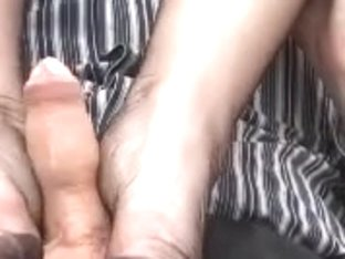 Hawt large tit Mother I'd Like To Fuck gives hj to cum on her feet