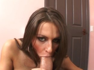 Gal with huge brabazons does a good blowjob to her boss