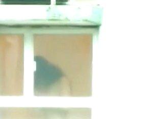 Lucky man filmed naked Asian babe through the window