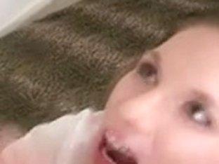 school cutie oral job face hole ejaculation