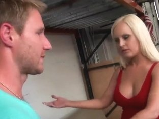 Blonde MILF picks up a young cyclopes