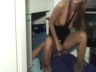 Horny Couple Fucks In The Kitchen