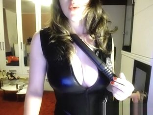 Sexy Girl In Latex On Webcam