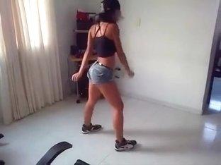Mad twerk web camera panty movie scene