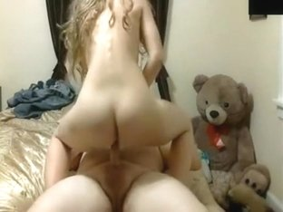 Fat guy has doggystyle and cowgirl sex with his hot gf