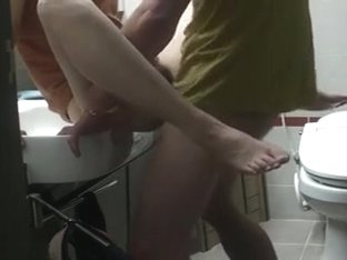 Hard fuck in the bathroom