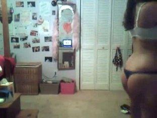 Busty webcam girl's sex show