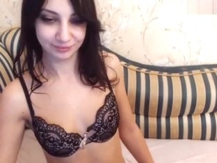 Brunette Clarise in sexy lingerie
