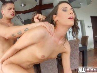 Allinternal Laura receives a pussy creampie
