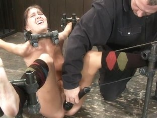 Alicia Stone Brutally bound, foot caned and made to cum over and over!