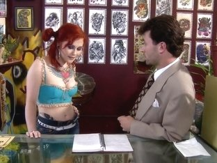 Amazing pornstars Misti Dawn and Joanna Angel in best redhead, brunette porn movie