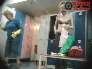 Blonde hottie exposed in a voyeur hidden cam video