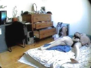 Amateur slides panty down and masturbates before spy cam Spy 02