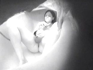 Russian Hidden cam So my sister likes to move apart legs and to show the masturbation to any boys,.