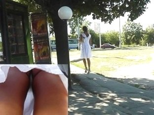 White belt betwixt widen legs up petticoat