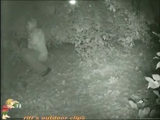 That nasty bitch is pissing in the forest at night