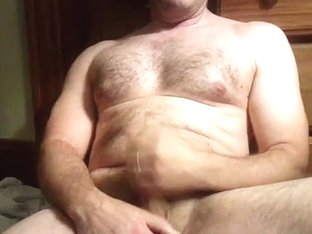 Handsome poof is relaxing in his room and filming himself on web cam