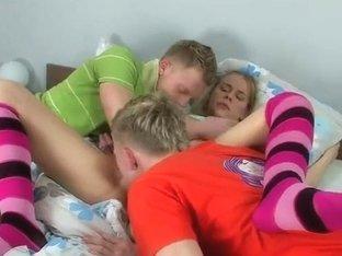 Marushek, Gavrushek and Zdenka in group legal age teenager sex