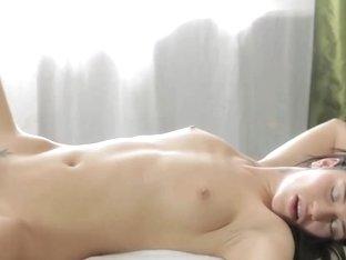 RubATeen 18 year old Russian chick Gerta massage anal sex