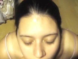 golden-haired sweetheart sucking her boyfriend POV