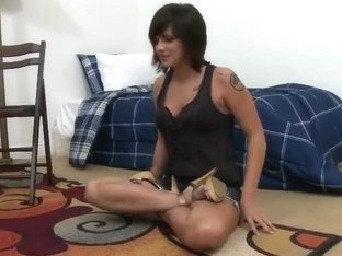 Sexy girl demonstrates her appetizing body
