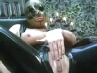 Devoted slave girl sucking master's big cock