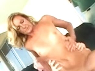 Aged golden-haired wife receives arse drilled in front of her spouse