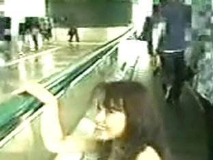 Girl stripped in the airport