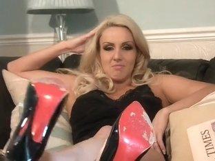 Amazing blonde dominatrix talks dirty stuff