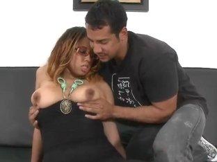 Heavy chested babe Anjelyze teases Brannon Rhodes