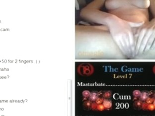 Cute brunette girl plays a sex game on omegle