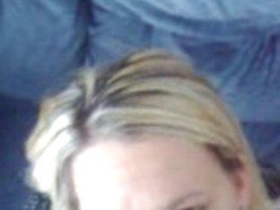 Stunning blonde wench gets a hot facial form her boyfriend