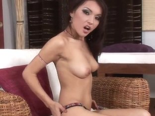 Agnes is one horny bitch who masturbates