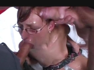 group-sex floozy with glasses