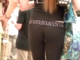 Voyeuristic man stalks and films a babe in sexy tight pants
