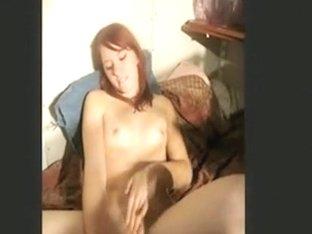Hot redhead girl sucks her bf's cock, masturbates and gets a facial.