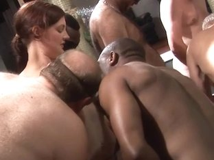 Large fuckfest with tiny fat and aged woman