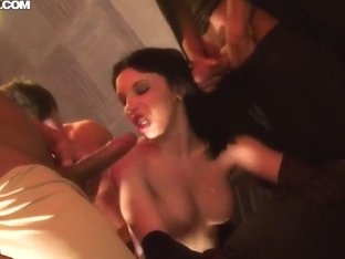 Slutty Lina gets nailed at Halloween party
