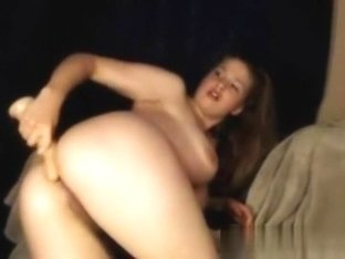 cutie whore rides my ramrod and large fake penis