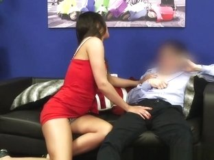 Cfnm Domina Groping Submissive Guy