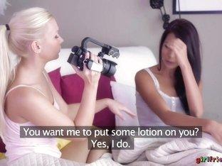 Fabulous pornstars Tina Evil, Micha in Crazy Cunnilingus, Fingering sex clip