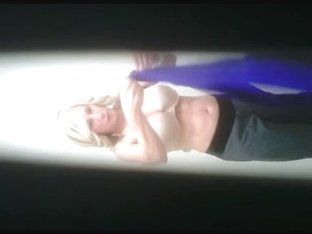 REAL Hidden Cam! Hot Blonde MILF Changing again