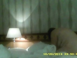Chubby nude wife bends over to make bed