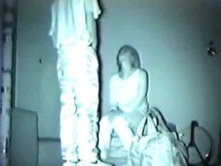 Blonde asian teen fucks on hidden cam