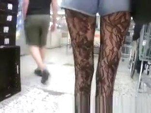 Girl Hot Pants Long Legs Shopping