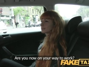 FakeTaxi: Lengthy red hair and a precious bald twat