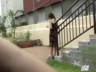 Japanese girl left in her underwear after public sharking