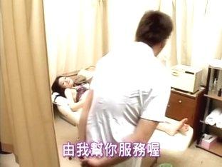 Titless Jap teen banged during Japanese sex massage