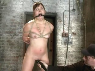 18yr old suffers her first hardcore bondage.Made to cum over and over, left to beg and suffer!